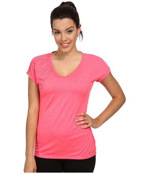 Marmot - Layer Up Tee S/S (Bright Pink Heather) Women's T Shirt