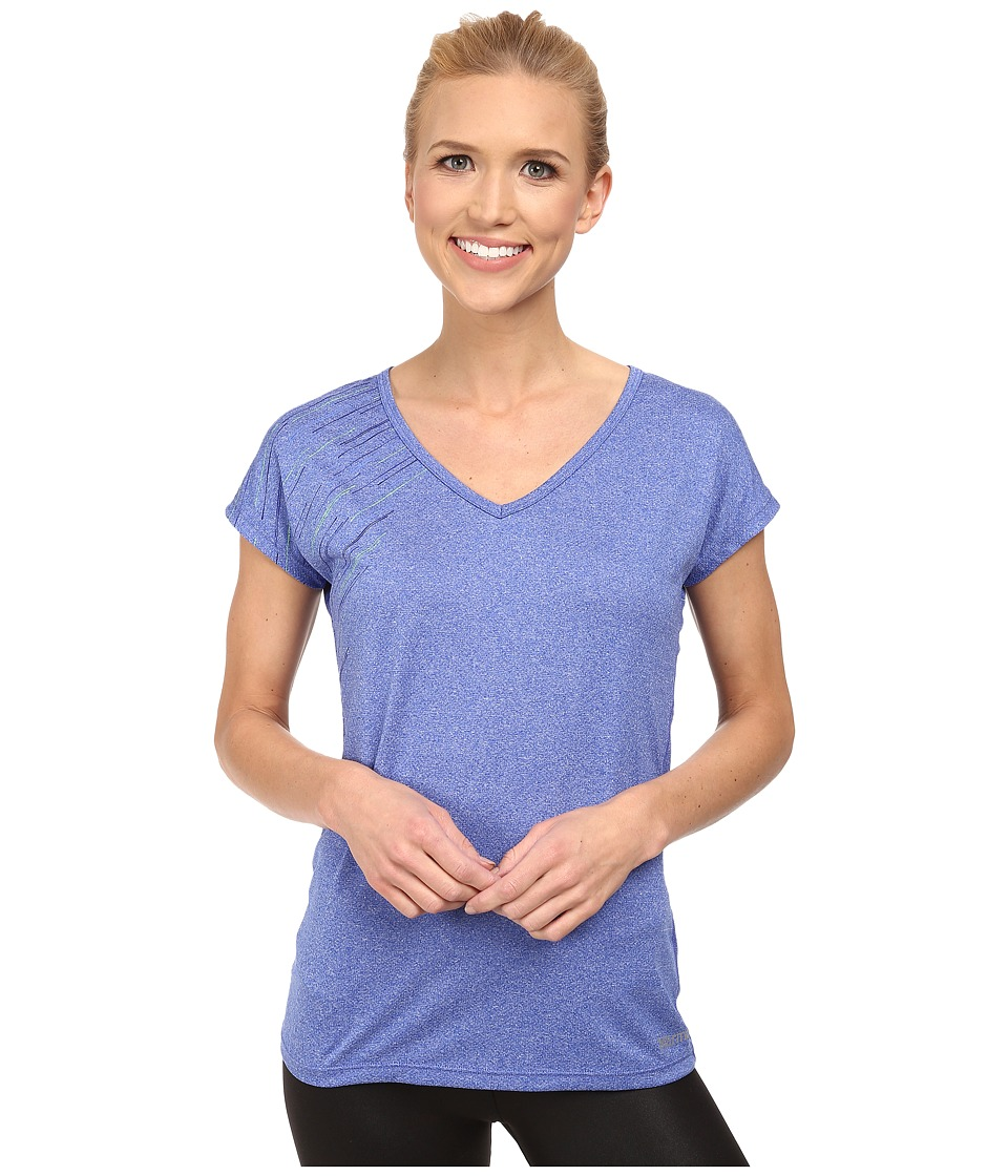 Marmot - Layer Up Tee S/S (Blue Dusk Heather) Women's T Shirt