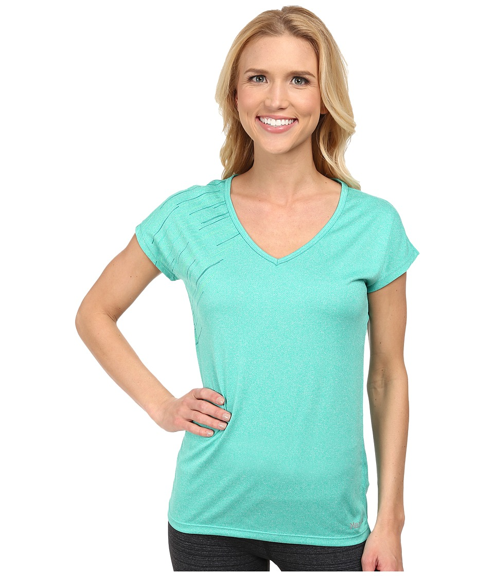 Marmot - Layer Up Tee S/S (Gem Green Heather) Women