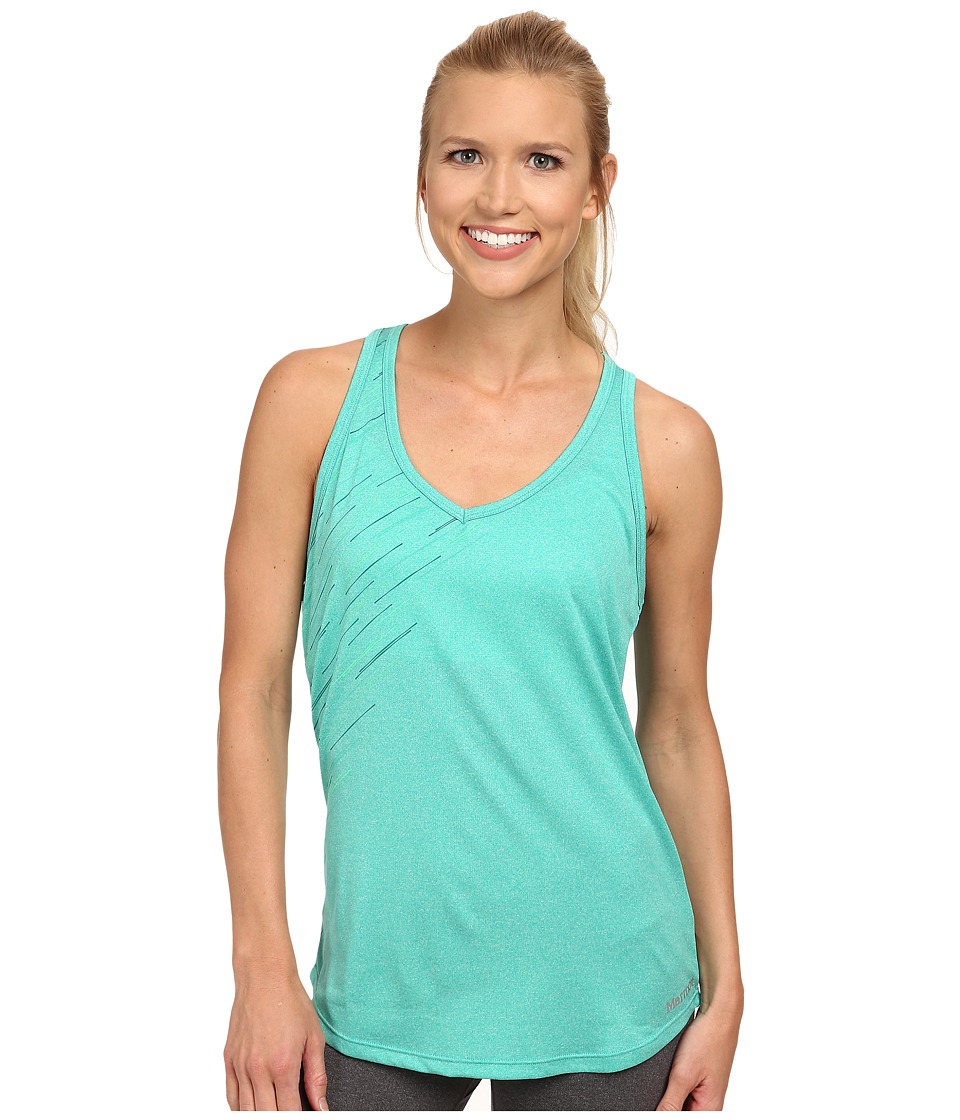 Marmot - Layer Up Tank (Gem Green Heather) Women's Sleeveless