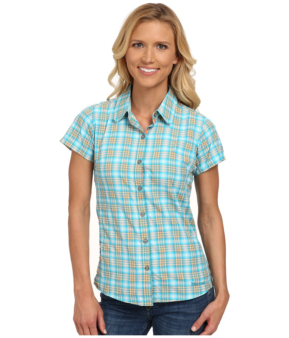 Marmot - Logan S/S (Ocean) Women's Short Sleeve Button Up