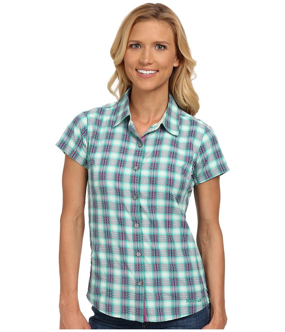 Marmot - Logan S/S (Gem Green) Women's Short Sleeve Button Up