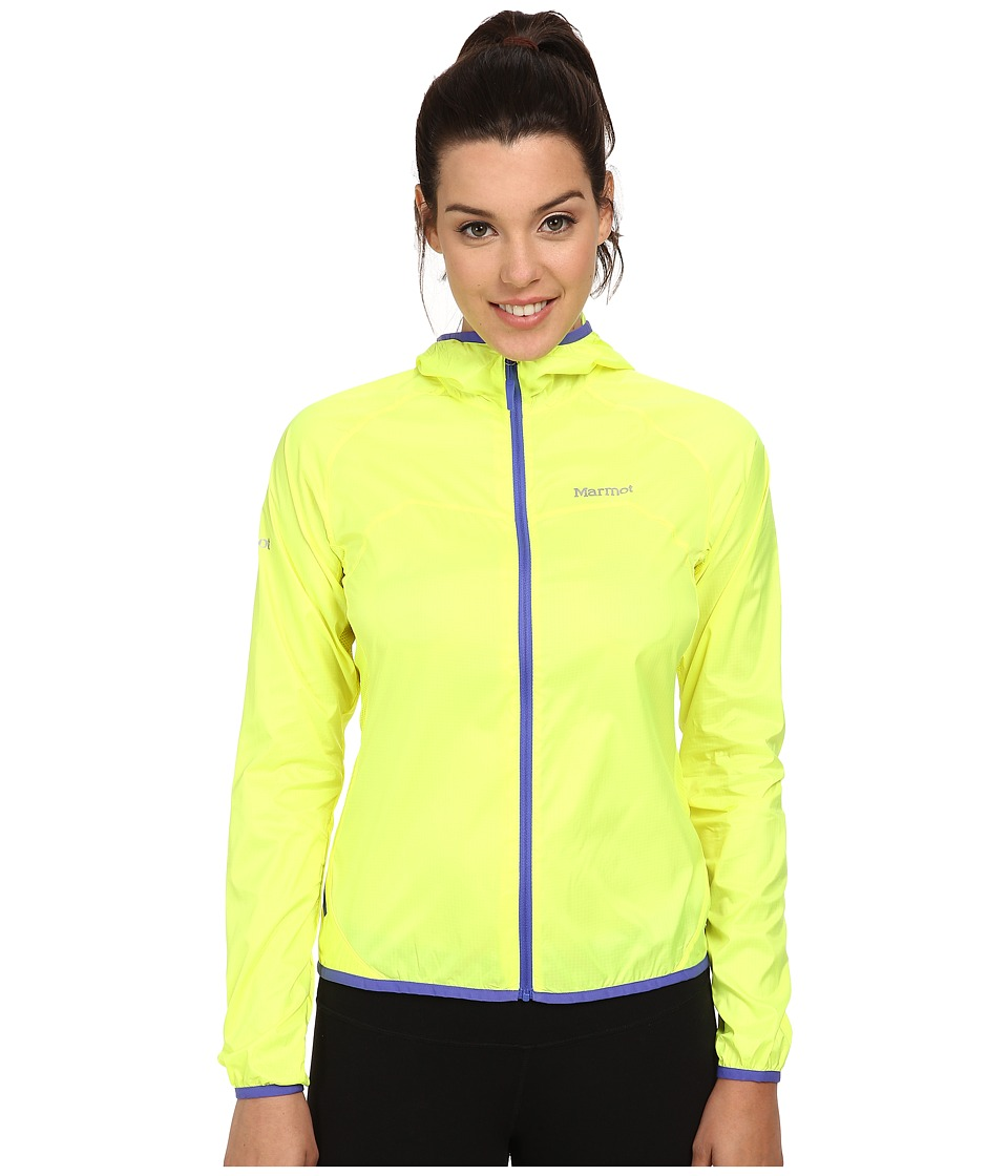 Marmot - Trail Wind Hoodie (Hyper Yellow) Women's Jacket