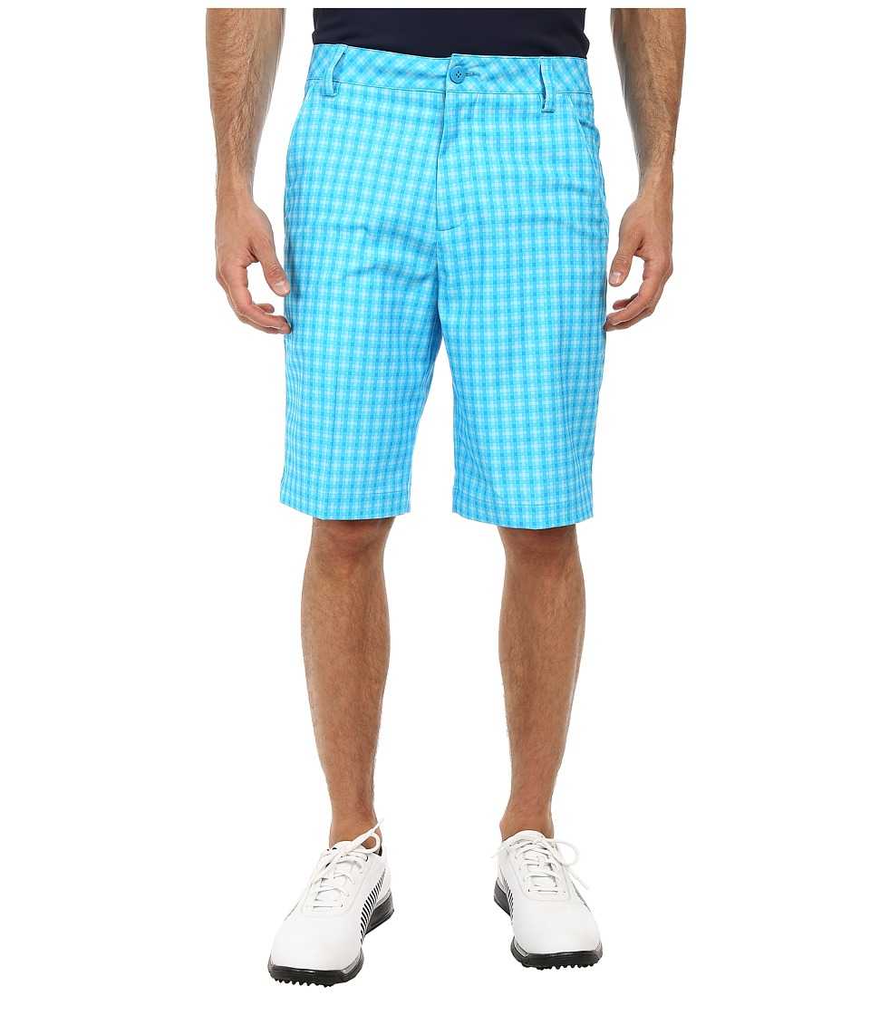 PUMA Golf - Go Time Plaid Tech Short (Hawaiin Ocean) Men's Shorts