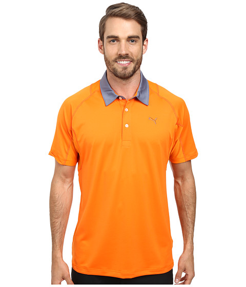PUMA Golf - Titan Tour Polo (Vibrant Orange) Men's Short Sleeve Knit