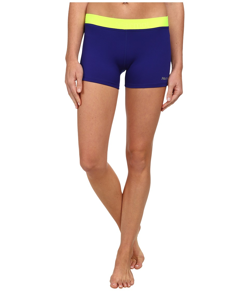Marmot - Motion Short (Midnight Purple/Hyper Yellow) Women's Shorts