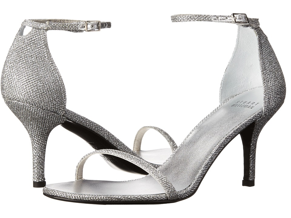 Stuart Weitzman Bridal & Evening Collection Naked (Silver Noir) High Heels