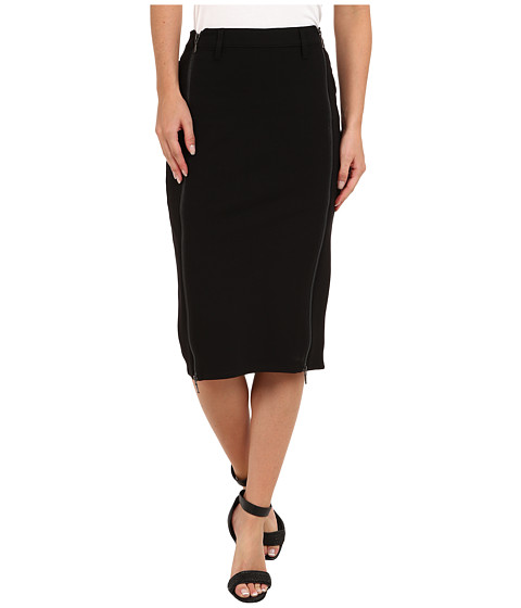 Dittos - Jackie 2 Zip Pencil Skirt (Black) Women
