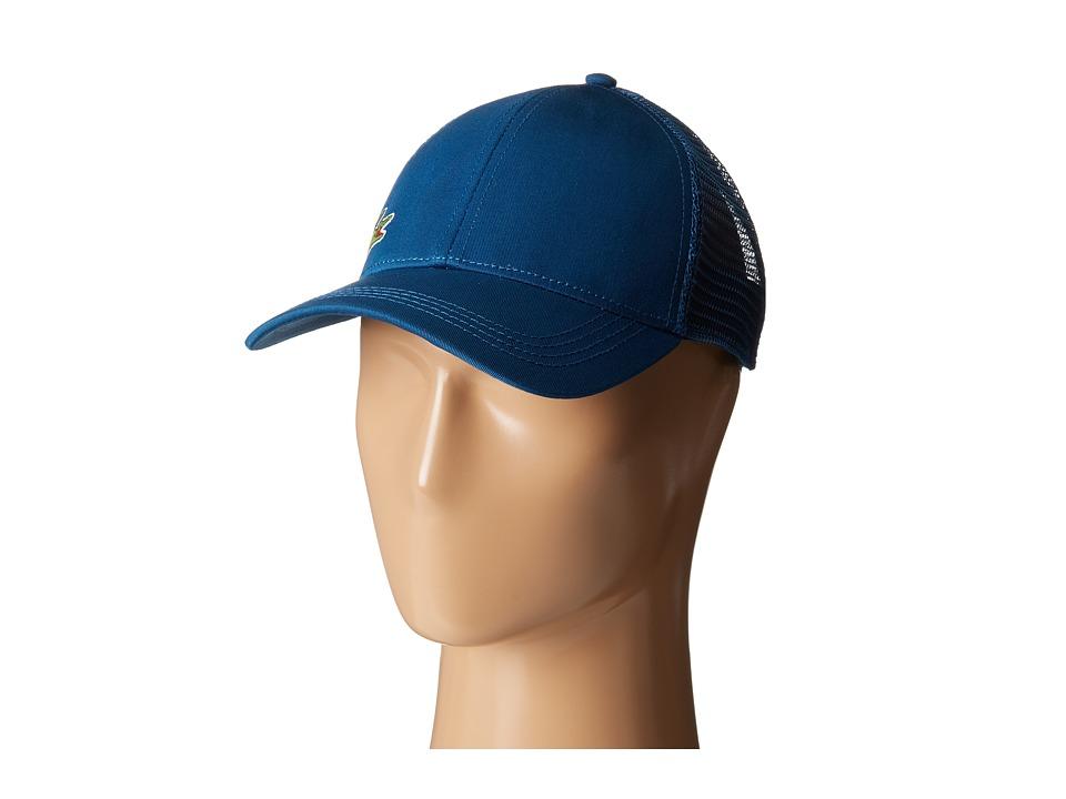 Lacoste - Classic 5CM Croc Trucker Hat (Navy 1) Caps