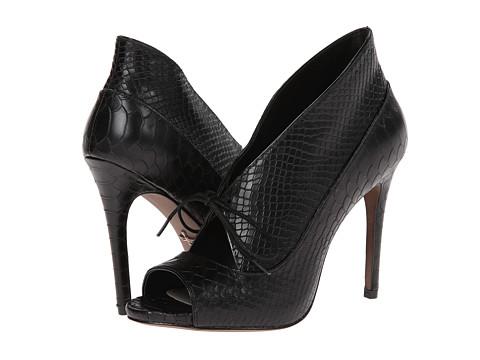 Pour La Victoire - Vika (Black Matte Python/Patent) High Heels