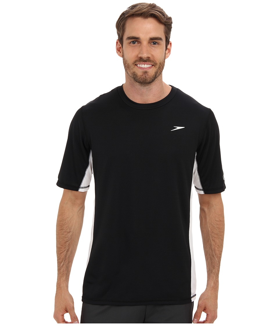 Speedo - Longview Swim Tee (Black) Men's Swimwear