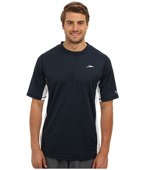Speedo - Longview Swim Tee (New Navy) Men