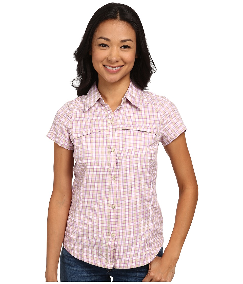 Columbia - Silver Ridge Multiplaid S/S Shirt (Fossil Small Ripstop) Women's Short Sleeve Button Up