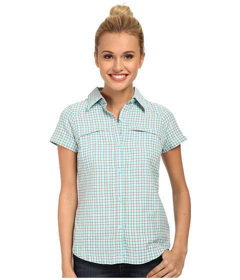Columbia - Silver Ridge Multiplaid S/S Shirt (Candy Mint Small Ripstop) Women's Short Sleeve Button Up