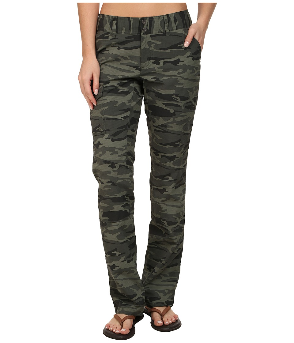 Columbia - Silver Ridge Printed Pant (Gravel Camo Print) Women's Casual Pants