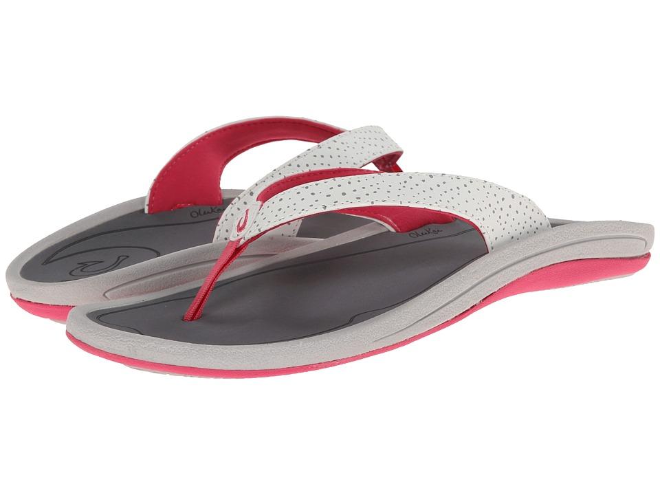 OluKai - I'a (White/Charcoal) Women's Sandals