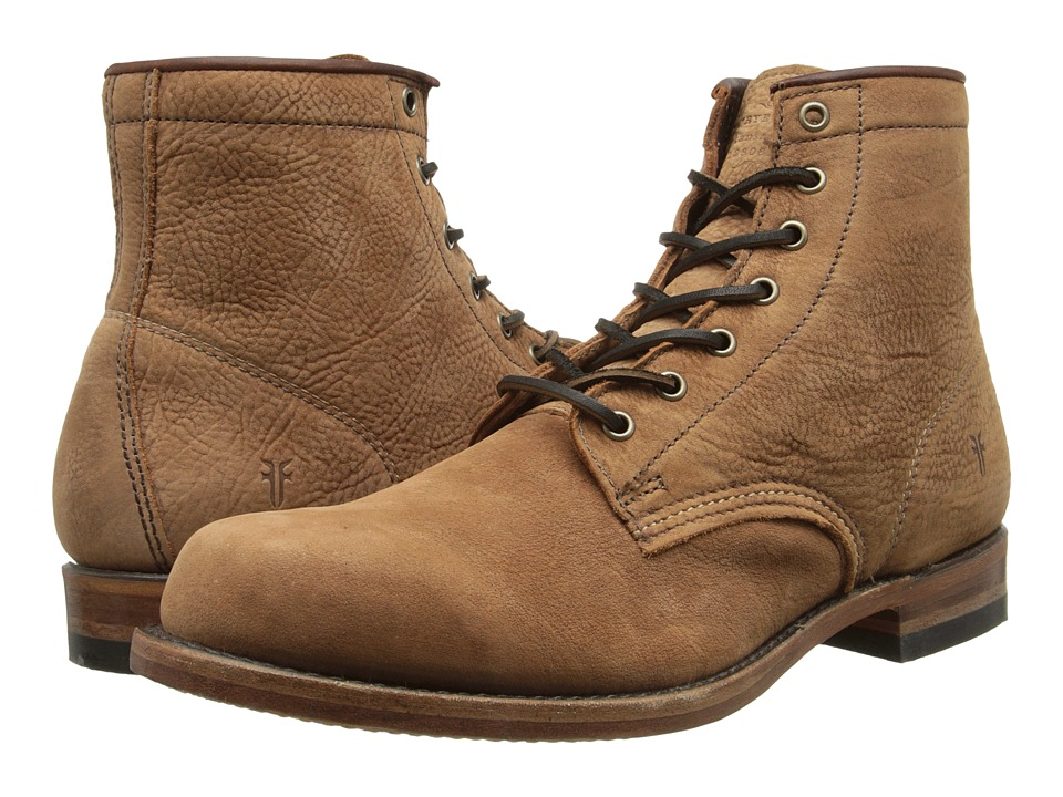 Frye - Arkansas Mid Leather (Cognac Suede) Men's Lace-up Boots