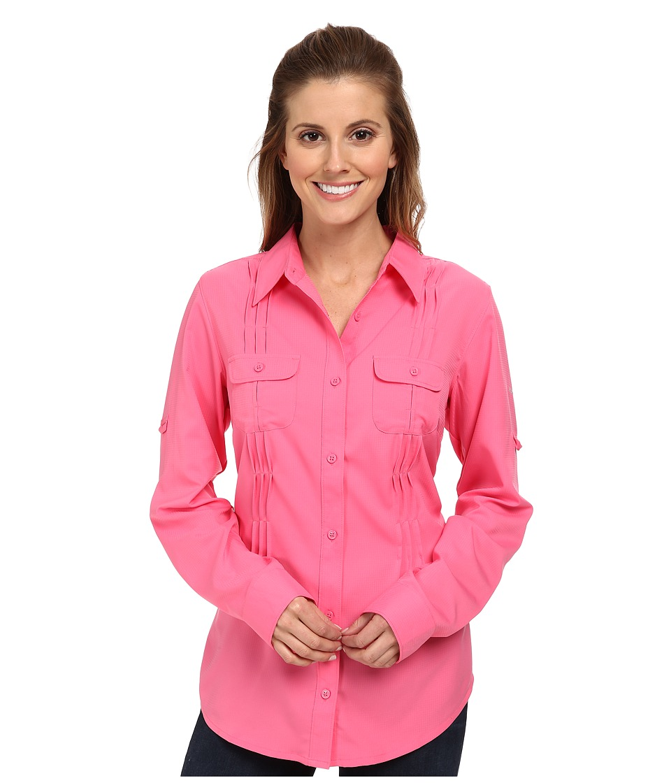 Columbia - Sun Goddess II L/S Shirt (Tropic Pink) Women's Long Sleeve Button Up