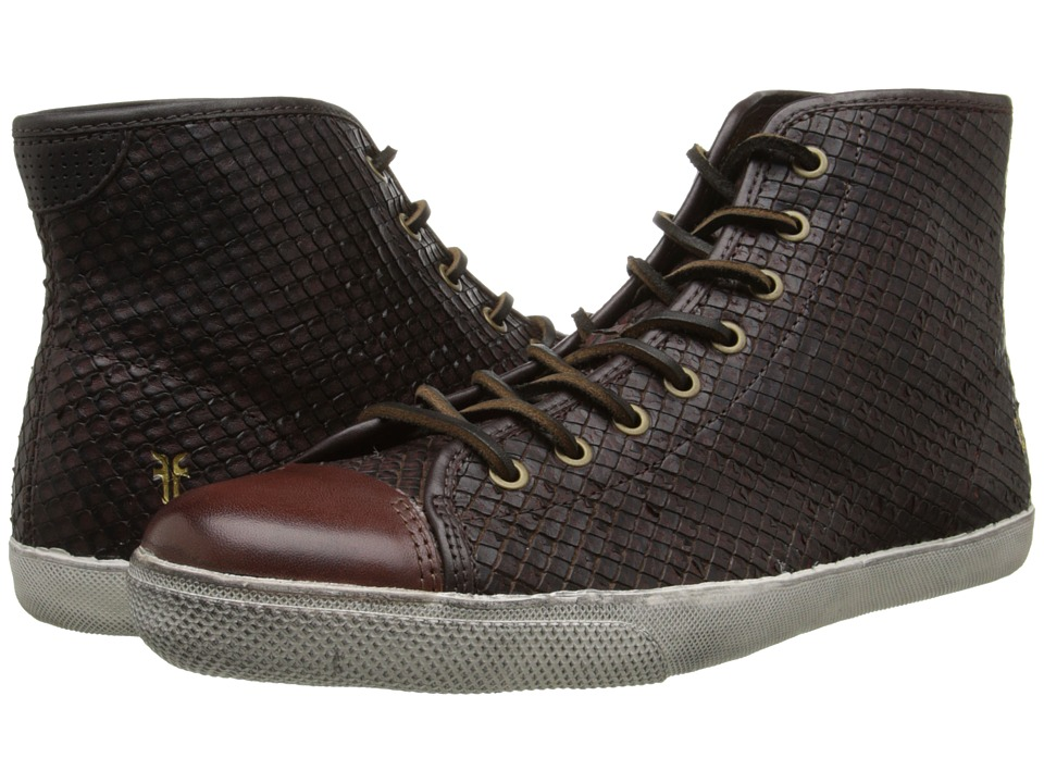 Frye - Chambers Cap High (Dark Brown Veg Cut Leather) Men's Lace up casual Shoes