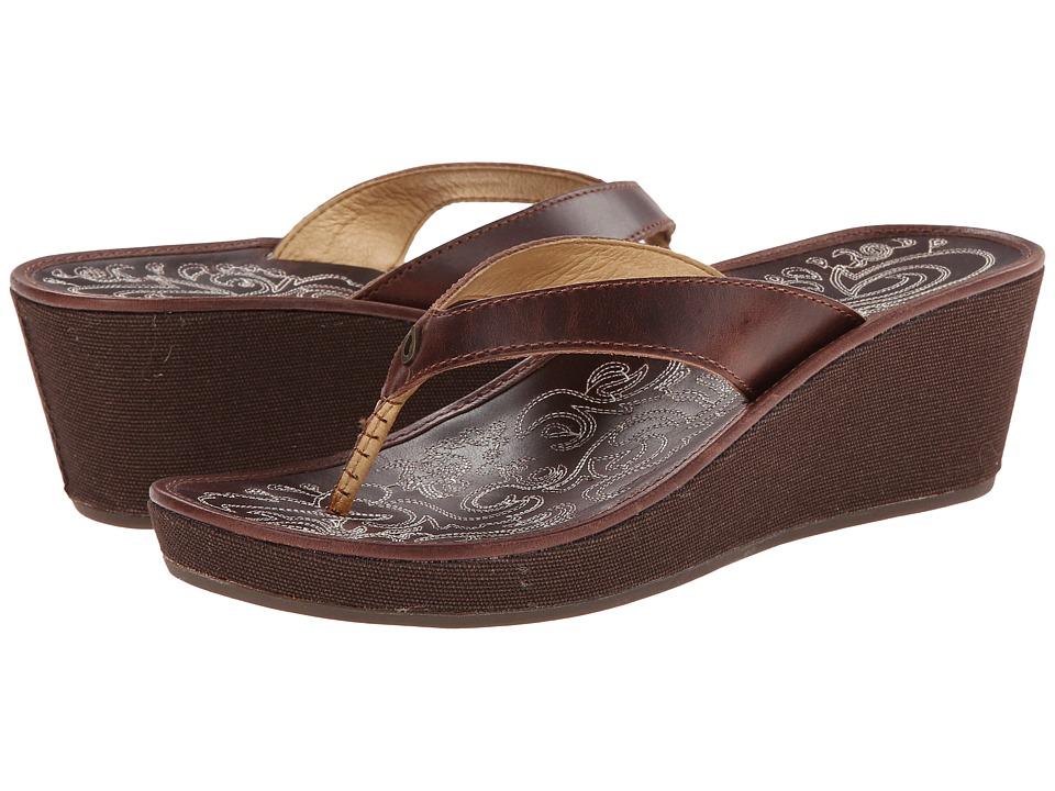 OluKai - Kaula Lio (Chestnut/Chestnut) Women's Sandals