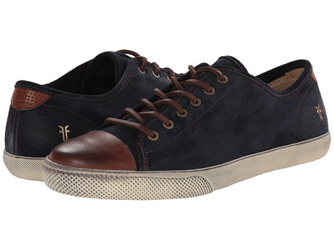 Frye - Chambers Cap Low (Navy Oiled Suede/Smooth Full Grain) Men's Lace up casual Shoes