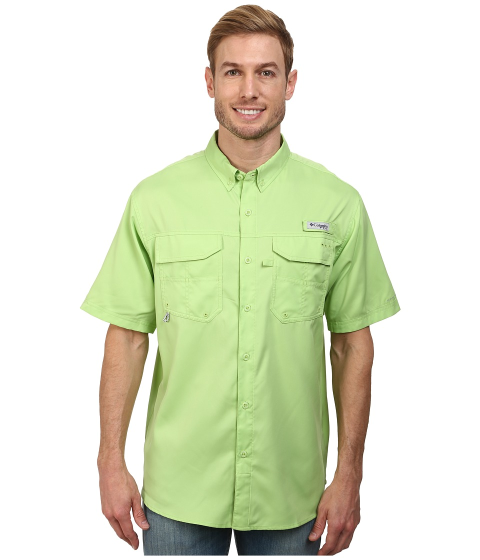 Columbia - Blood and Guts III S/S Woven (Jade Lime) Men's Short Sleeve Button Up