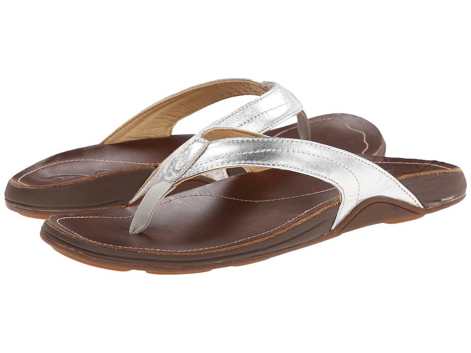 OluKai - Kumu W (Silver/Bean) Women's Sandals