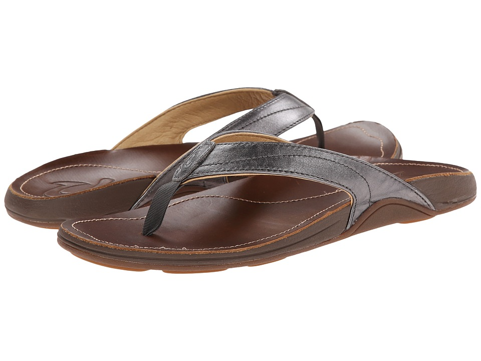OluKai - Kumu W (Pewter/Bean) Women's Sandals