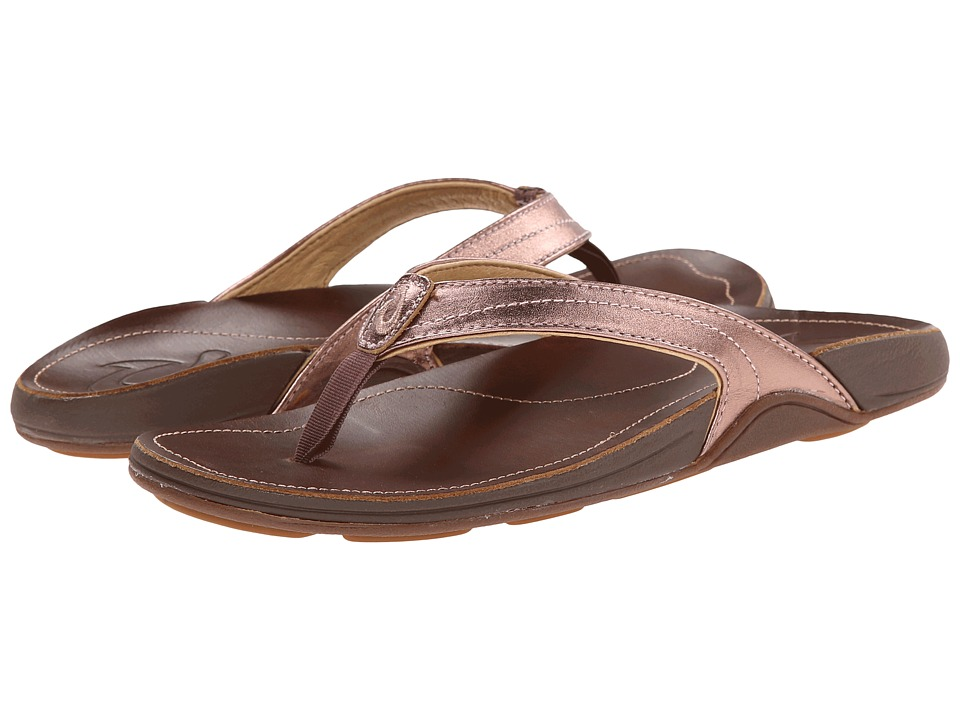 OluKai - Kumu W (Rose Gold/Bean) Women's Sandals