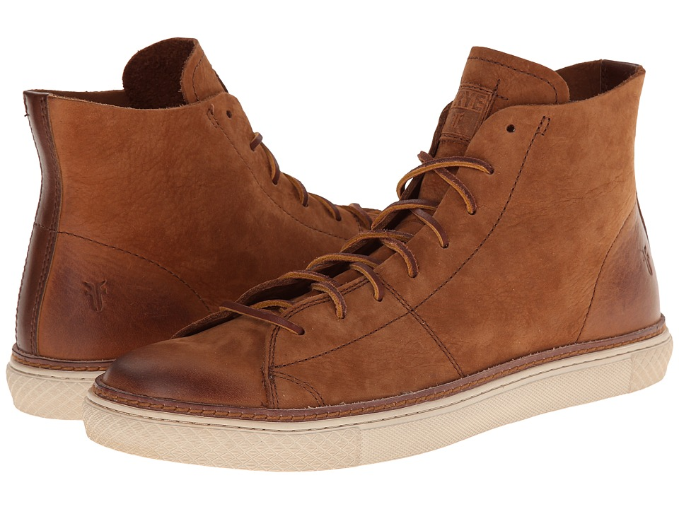 Frye Gates High (Cognac Sunwash Nubuck) Men