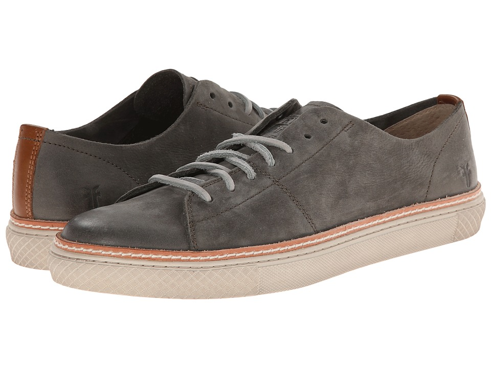 Frye Gates Low Lace (Charcoal Sunwash Nubuck) Men