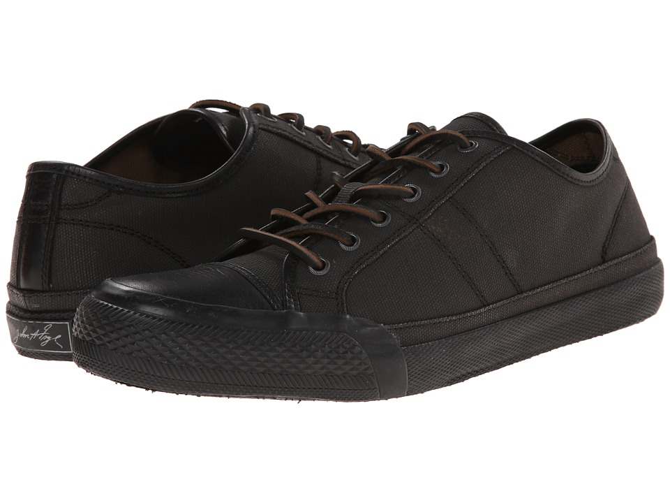 Frye - Greene Low Lace (Black Painted Canvas) Men's Lace up casual Shoes