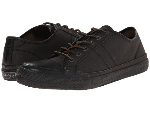 Frye - Greene Low Lace (Black Painted Canvas) Men