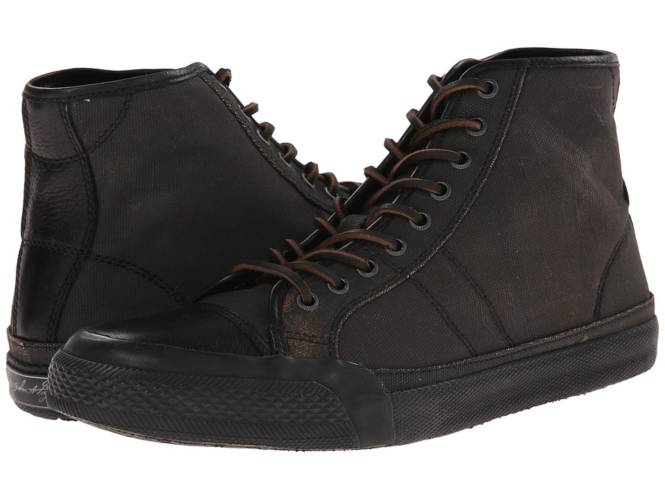 Frye - Greene Tall Lace (Black Painted Canvas) Men