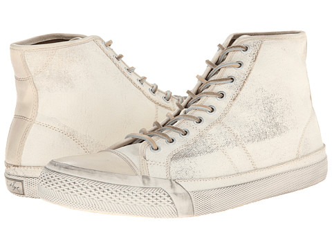 Frye - Greene Tall Lace (White Painted Canvas) Men