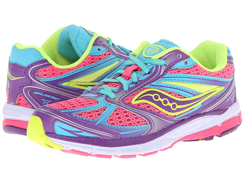 Saucony Kids - Guide 8 (Little Kid/Big Kid) (Pink/Purple/Blue) Girls Shoes