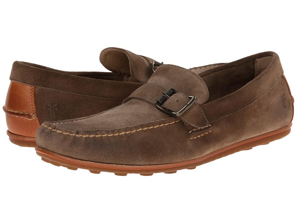 Frye - Harris Buckle (Grey Oiled Suede) Men's Slip on Shoes