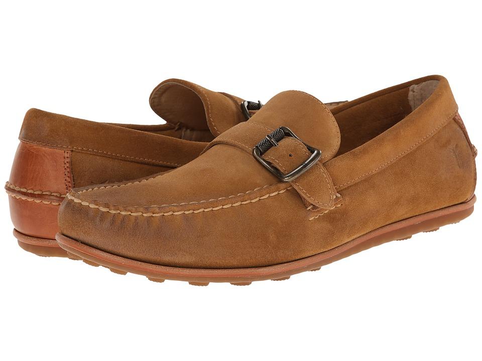 Frye - Harris Buckle (Wheat Oiled Suede) Men's Slip on Shoes