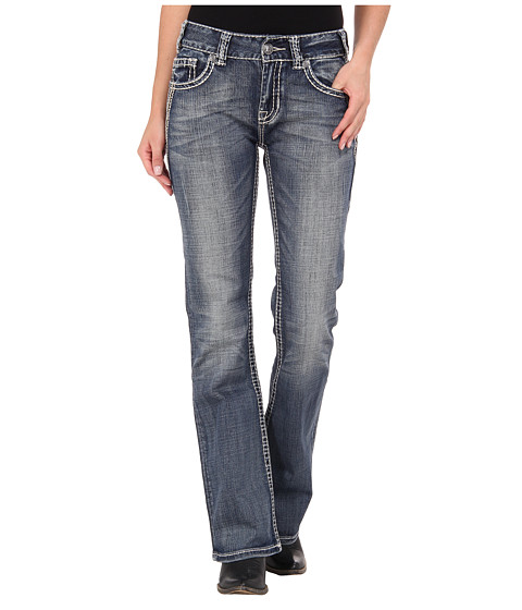 Rock and Roll Cowgirl - Mid Rise Boot Cut in Medium Vintage (Medium Vintage) Women's Jeans