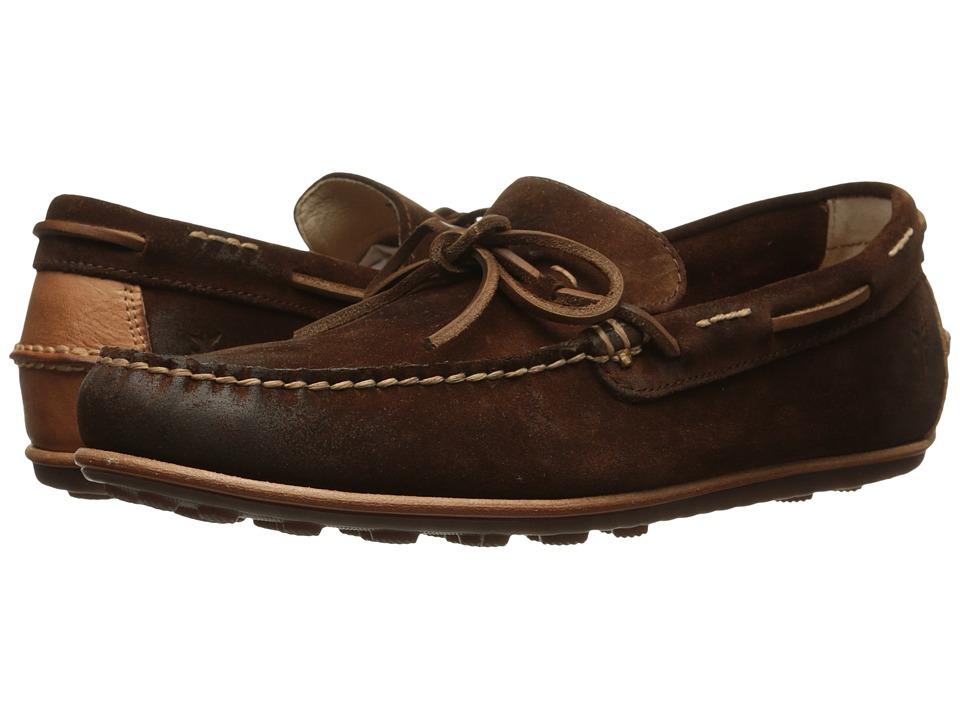 Frye - Harris Tie (Brown Oiled Suede) Men's Slip on Shoes