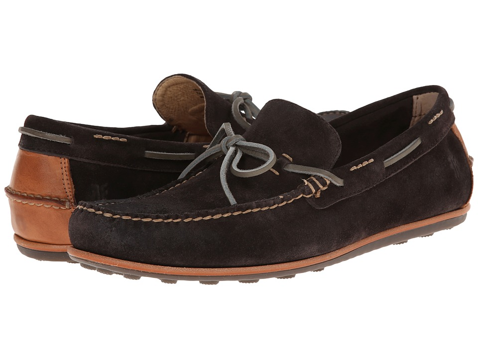 Frye - Harris Tie (Smoke Oiled Suede) Men's Slip on Shoes