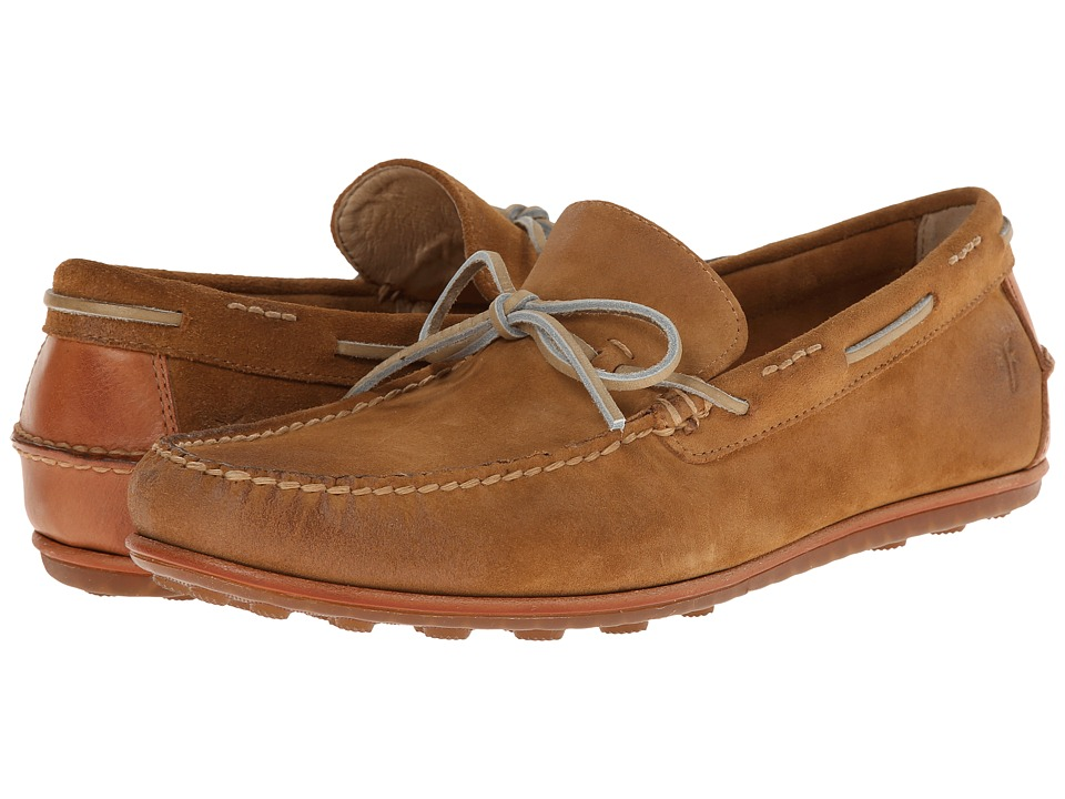 Frye - Harris Tie (Wheat Oiled Suede) Men's Slip on Shoes