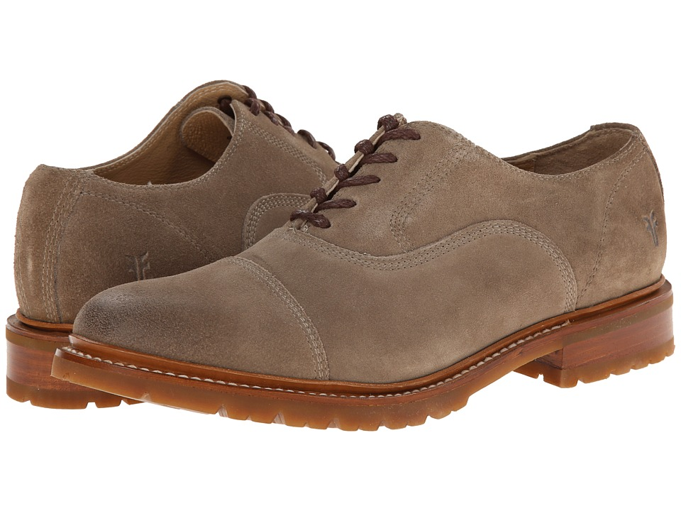 Frye - James Bal Lug Oxford (Grey Oiled Suede) Men's Lace Up Cap Toe Shoes