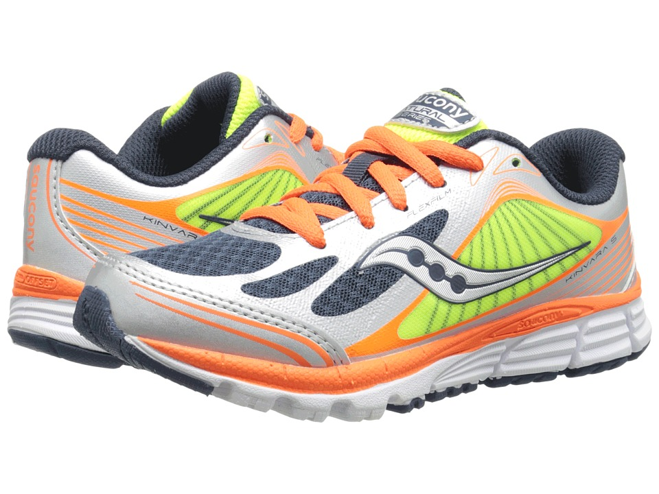 Saucony Kids - Kinvara 5 (Little Kid) (Navy/Orange/Citron) Boys Shoes