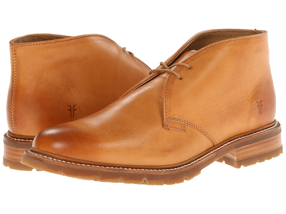 Frye James Lug Chukka (Tan Smooth Full Grain) Men