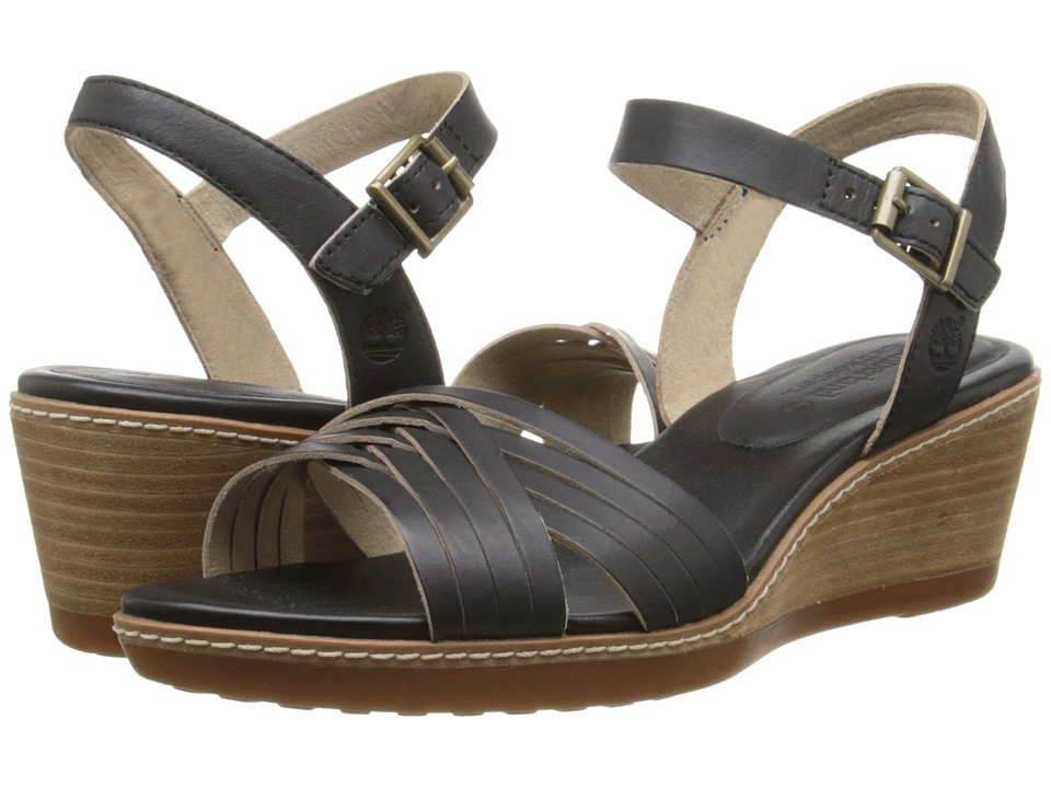Timberland - Earthkeepers Wollaston Woven Leather (Black Dry Gulch) Women's Sandals