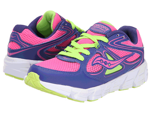 Saucony Kids - Kotaro (Little Kid) (Purple/Pink/Green) Girls Shoes