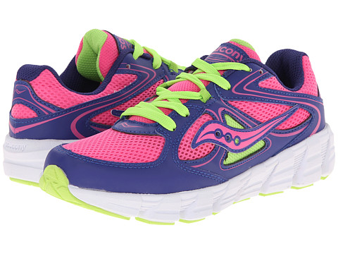 Saucony Kids - Kotaro (Big Kid) (Purple/Pink/Green) Girls Shoes