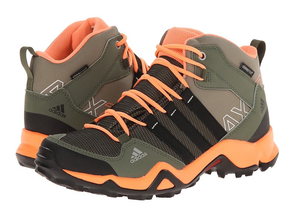 adidas Outdoor Kids - AX2 Mid CP (Little Kid/Big Kid) (Clay/Black/Flash Orange) Girls Shoes