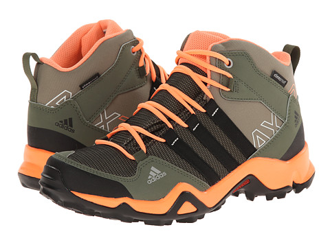 adidas Outdoor Kids - AX2 Mid CP (Little Kid/Big Kid) (Clay/Black/Flash Orange) Girls Shoes